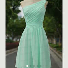 Bridesmaid dress Mint green, one shoulder short dress. Perfect for summer weddings! Dresses Wedding