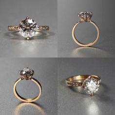 ヴィンテージ のカスタム エンゲージ リング Masami Kelly design two-tone color custom ring