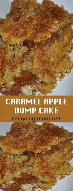 Caramel Apple Dump Cake Rezept Einfach - Recipes to Cook - Kuchen Caramel Apple Dump Cake, Apple Dump Cakes, Dump Cake Recipes, Apple Cake Recipes, Caramel Apples, Apple Caramel, Simple Apple Recipes, Caramel Apple Recipes, Crockpot Apple Dump Cake