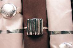 Napkin Rings Made of Old Earrings in this Week's Drab to Fab Column!