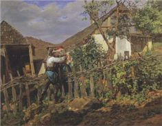 The neighbors  - Ferdinand Georg Waldmüller, c.1859, 098/122.