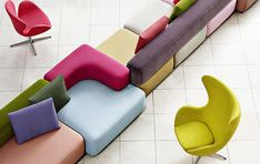Shop SUITE NY for the Egg™ Chair designed by Arne Jacobsen for Fritz Hansen and more danish modern furniture, original danish design, scandinavian design and ar Modular Furniture, Sofa Furniture, Modern Furniture, Furniture Design, Modular Sofa, Colorful Furniture, Furniture Ideas, Furniture Dolly, Furniture Assembly