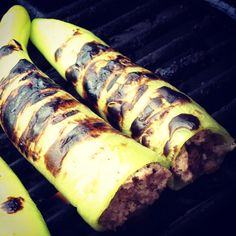 Grilled, Stuffed Banana Peppers
