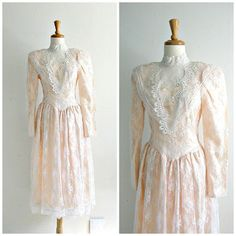 Vintage Jessica McClintock Wedding Dresses Tea Length