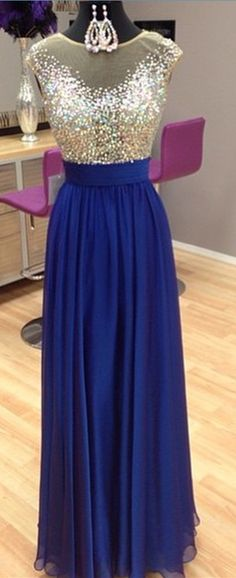 New Arrival Prom Dress,Modest Prom Dress,Sparkly Beading Scoop