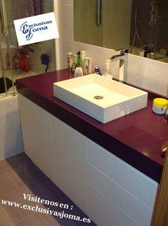 Muebles de ba o en rojo y blanco casa ideas interior negro blanco y rojo pinterest - Banos con paredes pintadas ...