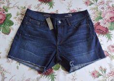 NWT J.Crew Women Indigo Denim Dark Wash Shorts Size 28 #JCREW #CasualShorts