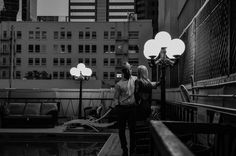 Young Couple on a rooftop