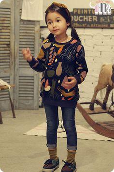 Wonderland Sweatshirt for girls kids fashion at colormewhimsy fall season
