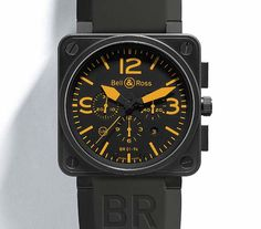 The Watch Quote: Bell & Ross Instrument BR01-92 Orange watch and Instrument BR01-94 Chronograph: The new BR01 Instrument collection Orange - Limited edition to 250 pieces