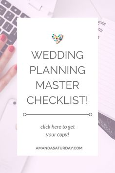 This is the ONLY Wedding Planning Checklist you will ever need! Go get your free copy now!