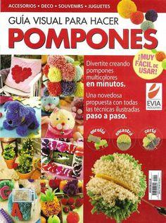 Revistas de manualidades Gratis: COmo hacer pompones paso a paso