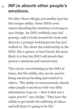 I definitely do this. Specifically with those closest to me; my fiance the most . I definitely do this. Specifically with those closest to me; my fiance the most but mom, daughter & son almost just as much. It's the worst when they . Infj Mbti, Intj And Infj, Enfj, Rarest Personality Type, Infj Personality, Myers Briggs Personality Types, Myers Briggs Infj, Introvert Quotes, Infp Quotes