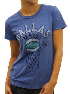 This officially licensed Women s NBA shirt by Junk Food features a Dallas  Mavericks basketball going through fbb429c744