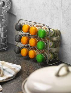 Köp Pisa Kryddställ 12 st burkar Krom - Hahn Kitchenware online | KitchenTime