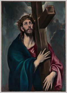From The Metropolitan Museum of Art, El Greco, Christ Carrying the Cross (ca. Oil on canvas, 41 × 31 in Caravaggio, Renaissance Espagnole, Blind Artist, Saint Teresa Of Avila, Toledo Cathedral, Jesus Painting, Hermitage Museum, Spanish Painters, Renaissance Paintings