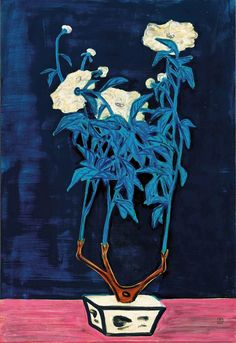 """Chinese-French painter Sanyu 常玉 (or Chang Yu) (1901–1966) who has been regarded as """"the Chinese Matisse"""" was among the first Chinese artists to study in Paris in the early 1920s. Immersing himself in the heady artistic atmosphere at the time, he attended classes at the Académie de la Grande Chaumière while frequenting the cafés in Montparnasse. He died in 1966 in his studio in Paris."""