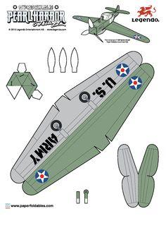 aviones para armar | Construye un Zero y un P-40 en papel