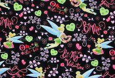 tb014  1 Yard Cotton Fabric  Disney Cartoon Characters by himenana, $10.00