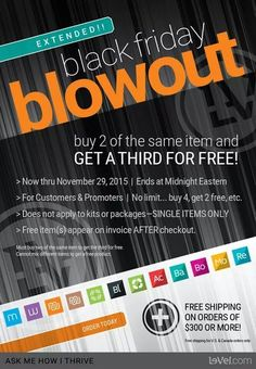 Don't miss out on this #blackfriday #deal! Why not feel your #BEST every single day!? It's like #Christmas morning every morning for me! It's so exciting knowing #Thrive is on my night stand when I wake up! Def something you have to #experience for yourself! Go to your website if you already signed up #free or click the link below to sign up and create your own #website! Just need an #email! ThrivingNJiving.com