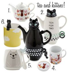Tea and kittens! Cat themed tea sets from ModCloth