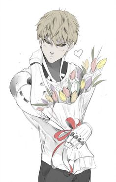 Genos by Shiiou- one punch man Anime W, Dark Anime Guys, Cute Anime Guys, Kawaii Anime, One Punch Man Funny, One Punch Man Anime, 19 Days Characters, Anime Characters, Genos Wallpaper