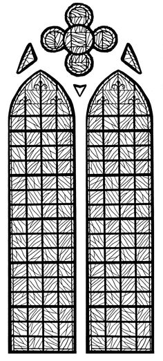 Coloring Page Made From A Modern Stained Glass Chapelle Chteau Yverdon Les Bains France