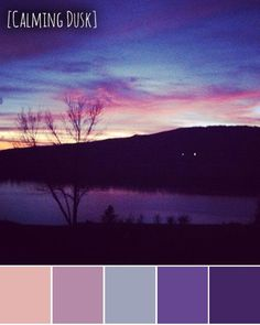One of the many gorgeous sunsets that are seen from my Grandparent's backyard-- I am playing with palettes this week on the blog!