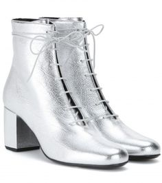 Currently craving: Saint Laurent metallic leather ankle boots - LaiaMagazine