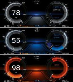 BMWi interface I still think cars are making their interfaces pretty complex… Digital Dashboard, Dashboard Car, Dashboard Design, Ui Design, Financial Dashboard, Planner Dashboard, Car Interior Design, Automotive Design, Car Ui