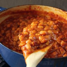 Try Miss Hilda's Baked Beans -- Emeril's Mom's recipe for baked bean goodness for your next cookout!
