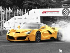 Ferrari Unleashes Yellow #LaFerrari On the Track! Click on the hyper car to watch! #viralvideo