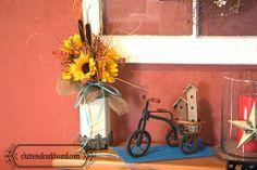 A unique vase idea for flower arrangements...  (A soap dispenser!!!) @Dee Zimecki Corkboard