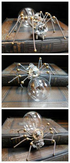 Steampunk spider figurine