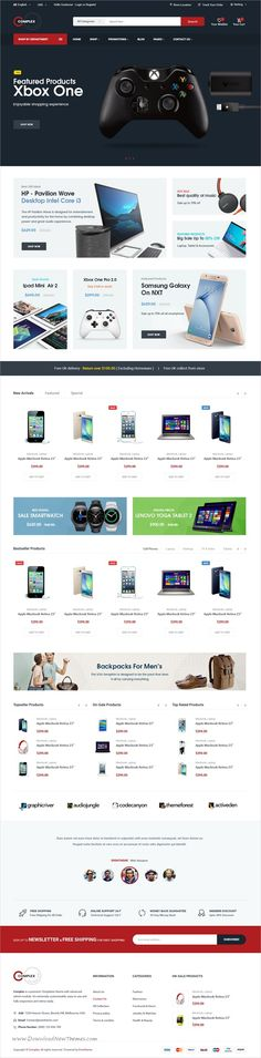 Complex is clean and modern design #PSD template for #webdev  awesome #eCommerce website with 18+ layered PSD files download now➩ https://themeforest.net/item/complex-electronics-ecommerce-psd/19738329?ref=Datasata