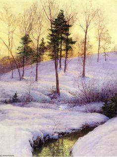 Le Hillside, aquarelle de Walter Launt Palmer (1854-1932, United States)