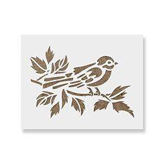 Oiseau sur branche Réutilisable Pochoir A3 A4 A5 romantique shabby chic Craft Tree 17
