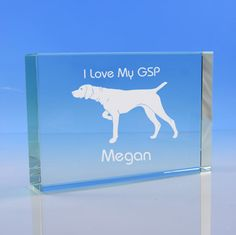 German Shorthaired Pointer Dog Lover Gift Personalised Engraved Glass Paperweight - Add Name and Message - Birthday Gift, Mother's Day Gift