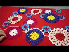 Saída de praia colorida, Parte 1, unindo os motivos - YouTube Crochet Tunic, Chunky Crochet, Crochet Mandala, Freeform Crochet, Crochet Clothes, Knit Crochet, Boho Flowers, Crochet Videos, Crochet Fashion