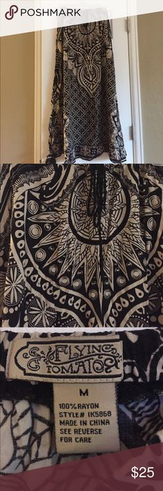 Printed maxi skirt Long flowy skirt has a beautiful print and is in excellent shape. Could be dressed up or down. Skirts Maxi