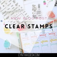 I launched my blog today. Say what?!  #OnTheBlogToday - Want to know what clear stamps & planning supplies I used for the first week of March? Link is in the bio!