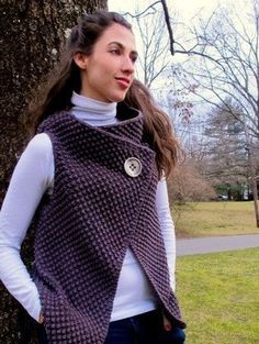 simple seed stitch vest::