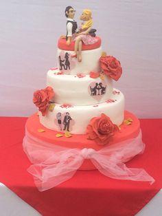 cake con historia novios