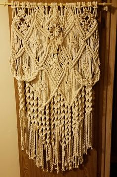 LARGE Macrame Wall Hanging 100% Cotton/Knotted Boho Sheek/Wedding Backdrop/Tapestry/Weaving by MarinetaCrafts on Etsy