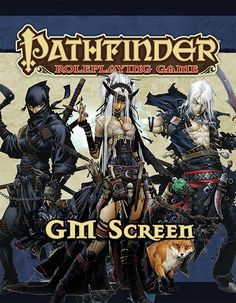 Pathfinder Roleplaying Game: GM Screen Alternate Cover (OGL) Print Edition | Book cover and interior art for Pathfinder Roleplaying Game - PFRPG, 3rd Edition, 3E, 3.x, 3.0, 3.5, 3.75, Role Playing Game, RPG, Open Game License, OGL, Paizo Inc. | Create your own roleplaying game books w/ RPG Bard: www.rpgbard.com