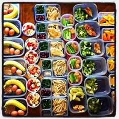 Planificación y preparación semanal de las comidas.