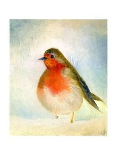ARTFINDER: 'Wintry' The Little Robin by Nancy Moniz Charalambous - What a cutie! A wintry and extremely well fed Robin Redbreast surrounded by snow. I painted this with oils on canvas board. The actual size of the image and board is Wood Wall Art, Wall Art Decor, Oil On Canvas, Canvas Prints, Wildlife Art, Wood Print, My Drawings, Find Art, Framed Artwork