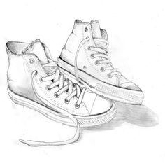 shoes drawing Converse by Charlotte Walker - shoes Converse Drawing, New York Fashion, Teen Fashion, Fashion News, Sneakers Urban, Character Design Challenge, Shoe Sketches, Walker Shoes, Drawing Lessons