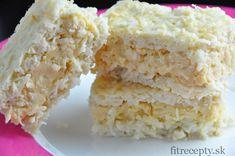 Kokosové rezy so žĺtkovým pudingom sú skvelým dezertom či fitness raňajkami bohatými na vitamíny, minerály a bielkoviny