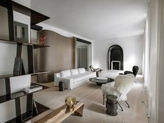 The Cool Hunter - Trocadero Apartment by Francois Champsaur - wood/white/parquet - Timeless interior